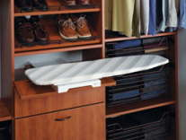 Slide and Foldout Ironing Board