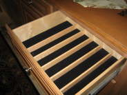 Velvet Lined Silverware Drawer